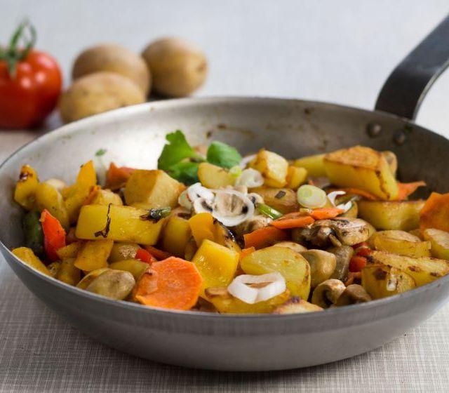 Kartoffelpfanne mit Gemüse
