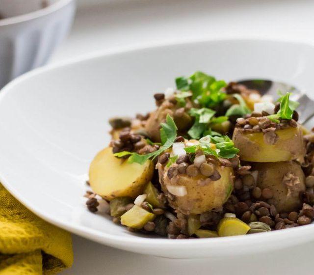 Kartoffel-Linsen Salat