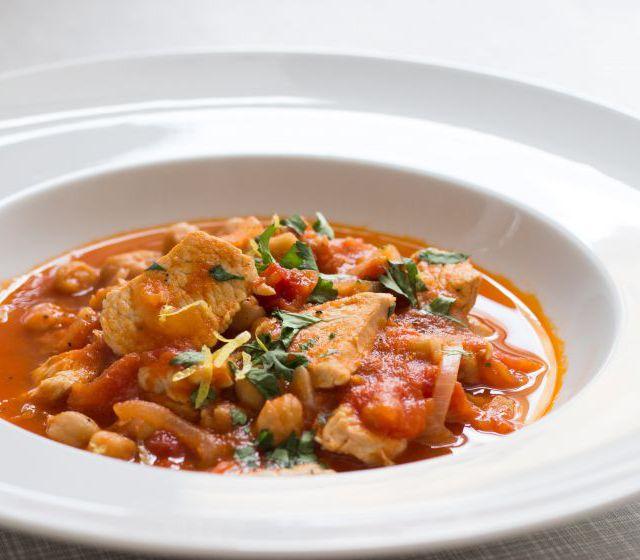 Einfaches Kichererbsen-Tomaten-Ragout