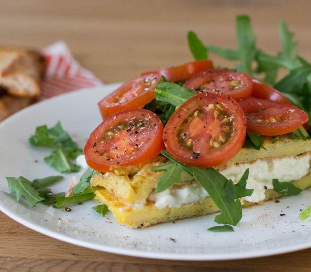 Ziegenkäse-Omelett