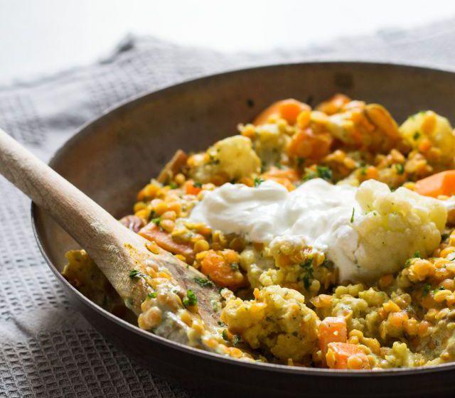 Karfiol-Linsen-Curry
