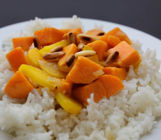 Süßkartoffel-Kokoscurry