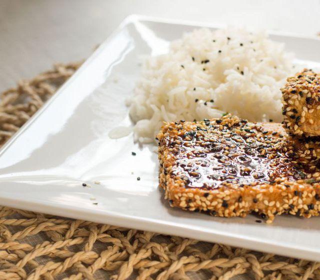 Tofu mit Sesamkruste