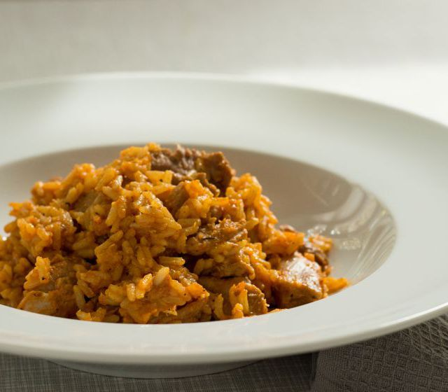 Einfaches Reisfleisch