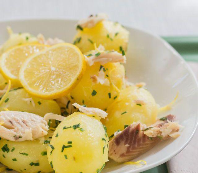 Kartoffeln mit Räucherforelle