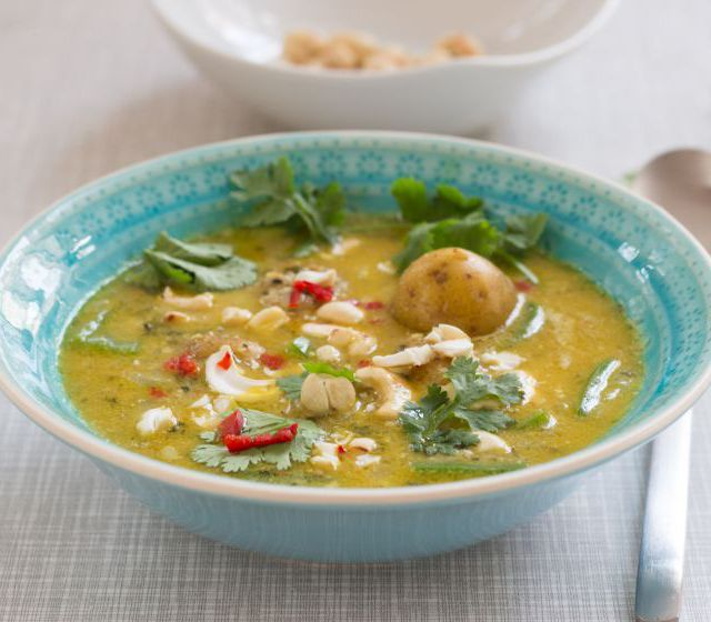 Kartoffel-Cashew-Curry