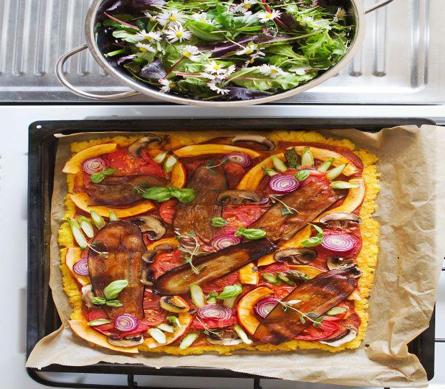 Polenta-Gemüse-Pizza